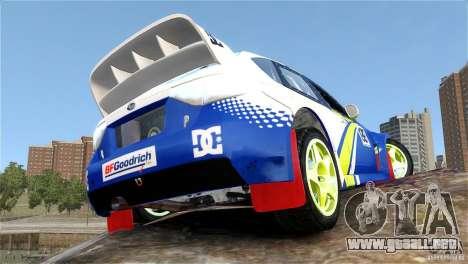 Subaru Impreza WRX STI Rallycross BFGoodric para GTA 4 vista interior