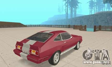 Ford Mustang II 1976 Cobra v. 1.01 para GTA San Andreas left