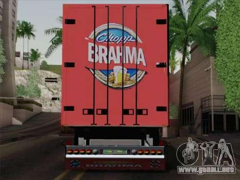 Trailer de Scania R620 Brahma para GTA San Andreas vista hacia atrás