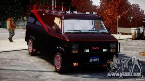 GMC Van G-15 1983 The A-Team para GTA 4 vista superior