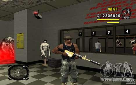 Gold Weapon Pack v 2.1 para GTA San Andreas sexta pantalla