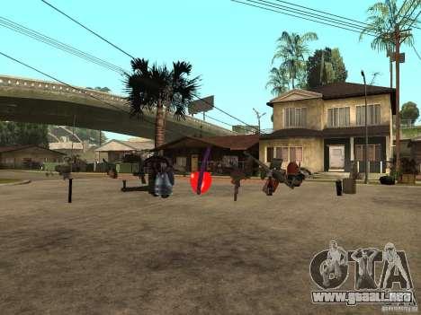 Armas para GTA San Andreas segunda pantalla