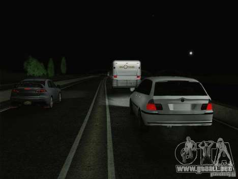 BMW M3 E46 Touring para la vista superior GTA San Andreas
