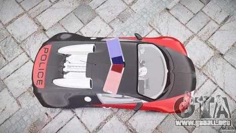 Bugatti Veyron 16.4 Police [EPM/ELS] para GTA 4 vista superior