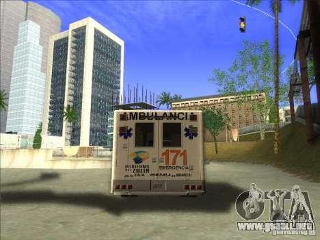 Ford E-350 Ambulance para GTA San Andreas vista posterior izquierda