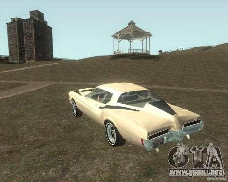 Buick Riviera Boattail 1972 tuned para GTA San Andreas left