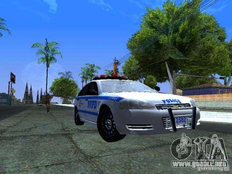 Chevrolet Impala NYPD para GTA San Andreas left