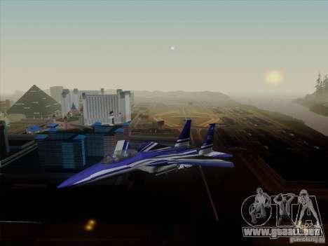 F-15 SMTD para GTA San Andreas vista posterior izquierda