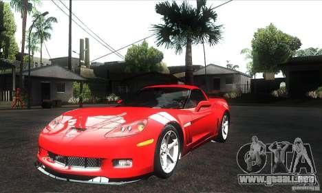 Chevrolet Corvette Grand Sport 2010 para el motor de GTA San Andreas