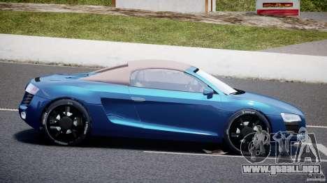 Audi R8 Spyder v2 2010 para GTA 4 left