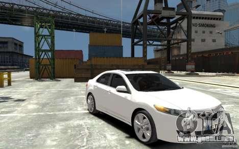 Acura TSX 2011 para GTA 4 vista hacia atrás