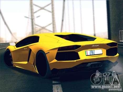 Lamborghini Aventador LP700-4 2011 V1.0 para la visión correcta GTA San Andreas