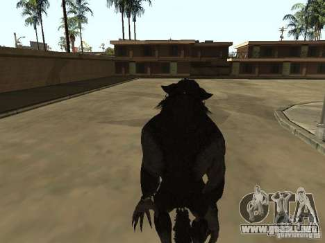 Werewolf from The Elder Scrolls 5 para GTA San Andreas tercera pantalla