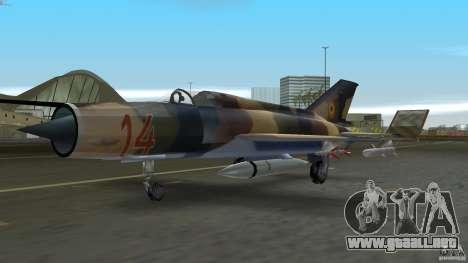 MiG 21 LanceR A para GTA Vice City left