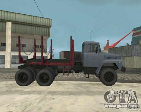 Portador de madera KrAZ-255 para visión interna GTA San Andreas