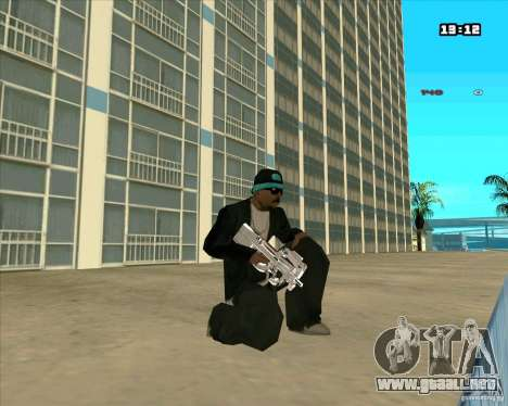 Chrome Weapon Pack para GTA San Andreas sucesivamente de pantalla