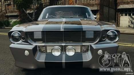 Shelby Mustang GT500 Eleanor 1967 v1.0 [EPM] para GTA 4 vista desde abajo