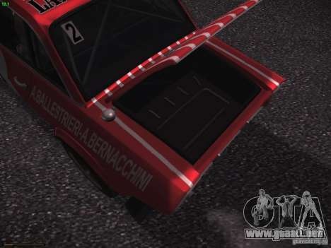 Lancia Fulvia Rally Marlboro para vista inferior GTA San Andreas