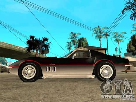 Chevrolet Corvette 1968 Stingray para GTA San Andreas left