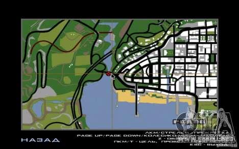 Itinerario v1.0 para GTA San Andreas sucesivamente de pantalla