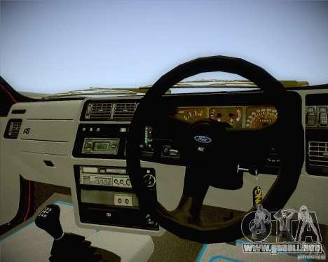 Ford Sierra RS500 Race Edition para la visión correcta GTA San Andreas