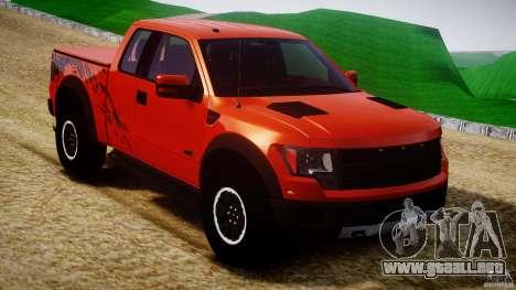 Ford F150 SVT Raptor 2011 para GTA 4 vista interior