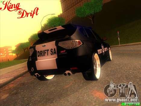 Subaru Impreza WRX Police para visión interna GTA San Andreas