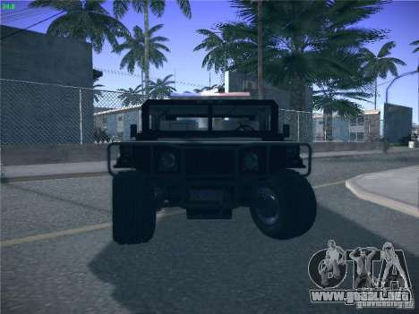 Hummer H1 1986 Police para la vista superior GTA San Andreas