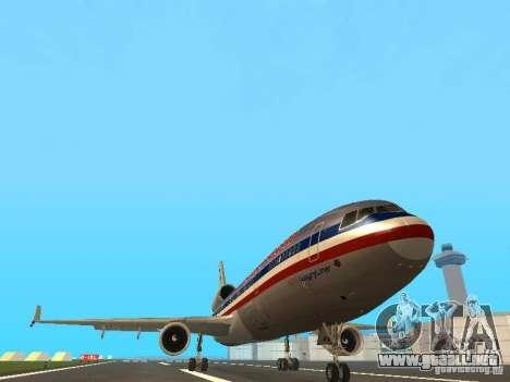 McDonell Douglas MD11 American Airlines para visión interna GTA San Andreas