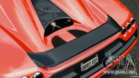 Koenigsegg CCX 2006 v1.0 [EPM][RIV] para GTA 4 ruedas