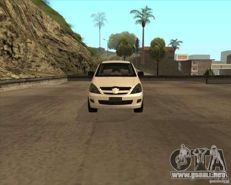 Toyota Innova para visión interna GTA San Andreas