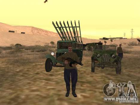 Oficial soviético BOB para GTA San Andreas tercera pantalla
