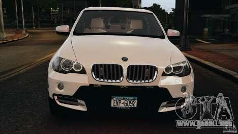 BMW X5 xDrive48i Security Plus para GTA 4 vista desde abajo