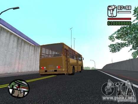 IKARUS 260.37 para GTA San Andreas vista hacia atrás