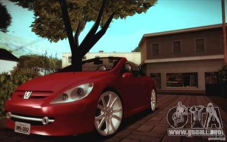 Peugeot 307CC BMS Edition para ordenadores portá para GTA San Andreas left