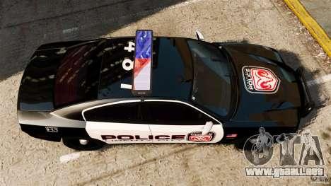Dodge Charger RT Max Police 2011 [ELS] para GTA 4 visión correcta