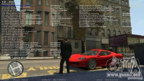 Entrenador de simple versión 6.2 para 1.0.1.0-1. para GTA 4 sexto de pantalla