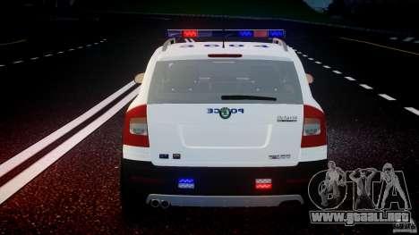 Skoda Octavia Scout NYPD [ELS] para GTA 4 ruedas