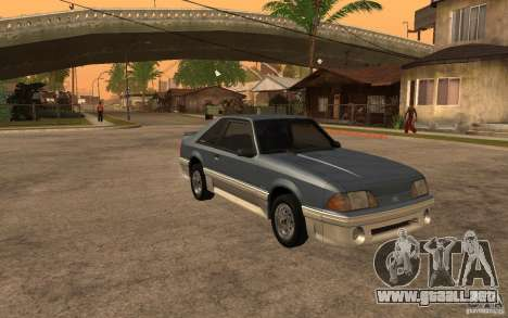 Ford Mustang GT 5.0 1993 para GTA San Andreas vista hacia atrás