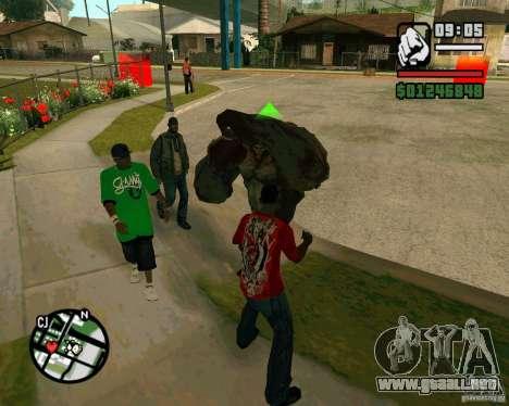 Tanque del Left 4 Dead. para GTA San Andreas segunda pantalla