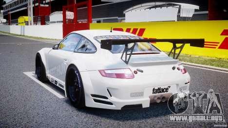 Porsche GT3 RSR 2008 SpeedHunters para GTA 4 Vista posterior izquierda
