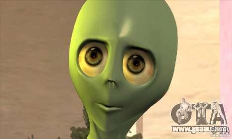 Alien para GTA San Andreas sucesivamente de pantalla