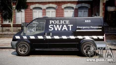 Ford Transit SWAT [ELS] para GTA 4 left