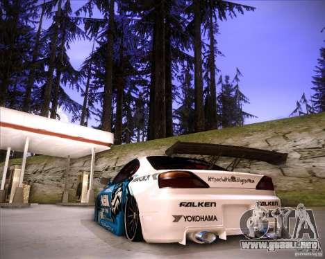 Nissan Silvia S15 Blue Tiger para GTA San Andreas left