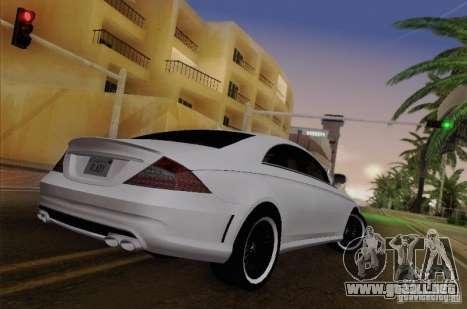 Mercedes-Benz CLS 63 AMG para GTA San Andreas vista hacia atrás