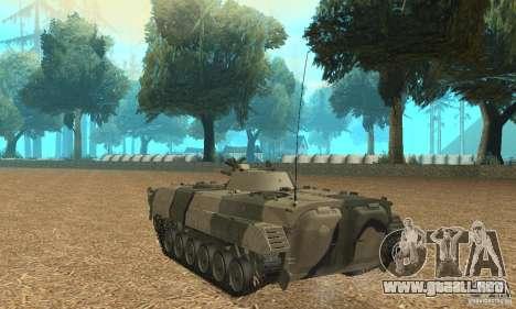 Camo BMP-1 para GTA San Andreas vista posterior izquierda