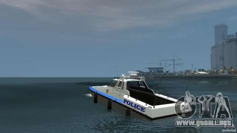 NYPD Predator para GTA 4 Vista posterior izquierda