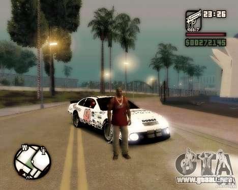 Dodge Nascar Beers Light 40 para la visión correcta GTA San Andreas