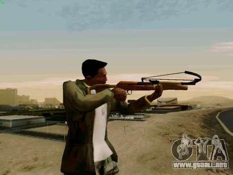 Una trabajo ballesta con flechas para GTA San Andreas segunda pantalla
