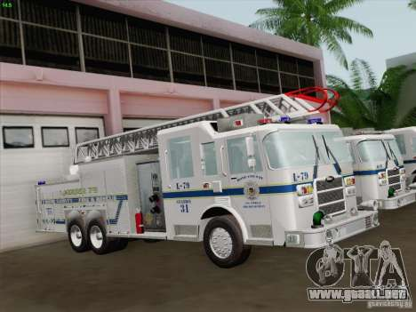 Pierce Puc Aerials. Bone County Fire & Ladder 79 para la vista superior GTA San Andreas
